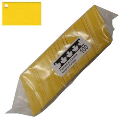 Plaquettes Plastiques 1.5'' x 2.5'' (38.1mm x 63.5mm) Paquet de 100