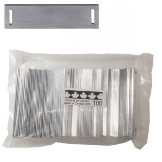 "Plaquettes 1"" x 4"" Aluminium Régulier Sac de 100"
