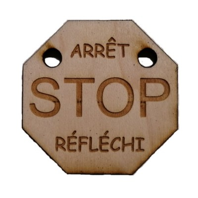 Arrêt Stop Réfléchi