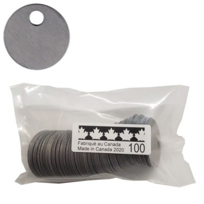 No 68 Tags Stainless Steel bags of 100