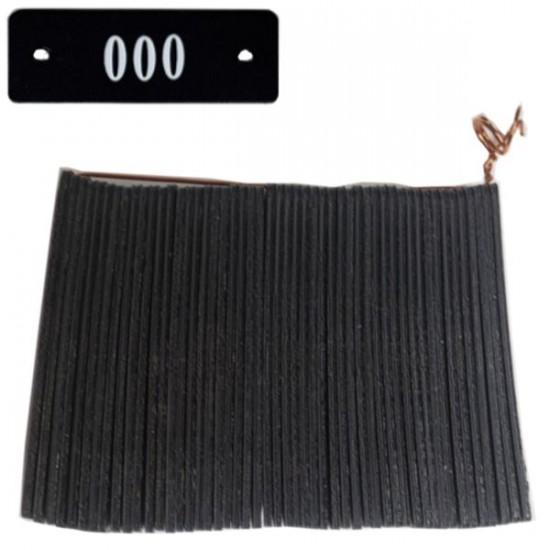 No 70P Noir Num. 501 à 550 en Blanc