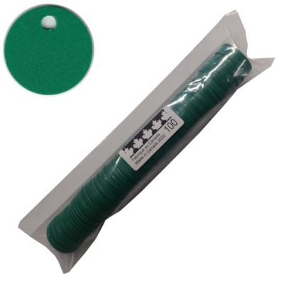 No 76 Jetons polyéthylène Vert Moyen. Sac de 100