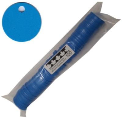 No 76 Jetons polyéthylène Bleu médium. Sac de 100