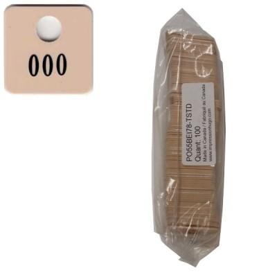 No 78 Beige Num. 001 à 100 en Noir