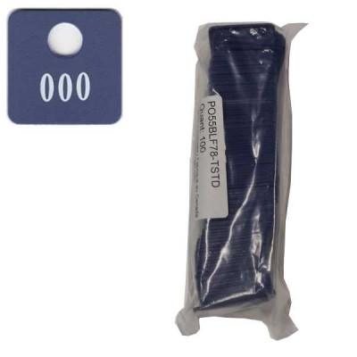 No 78 Bleu Foncé Num. 001 à 100 en Blanc