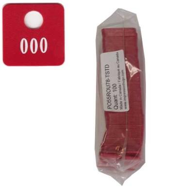 No 78 Rouge Num. 501 à 600 en Blanc