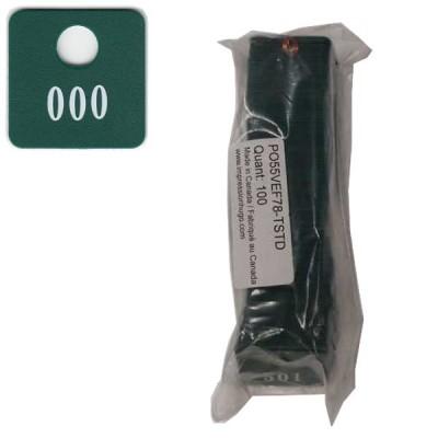 No 78 Vert Foncé Num. 001 à 100 en Blanc